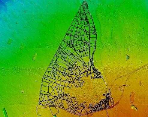 Modelo Digital de Terreno del perímetro de riego